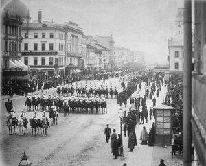 Перевоз регалий из Москвы в Петербург. 1883