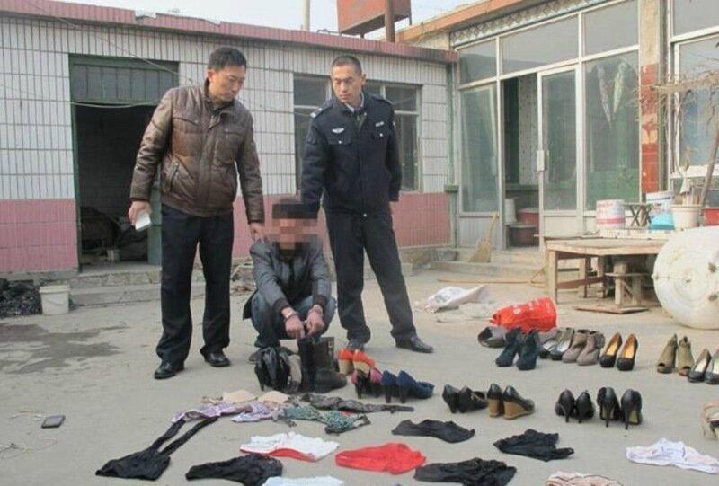 В Китае задержали фетишиста с коллекцией женской обуви