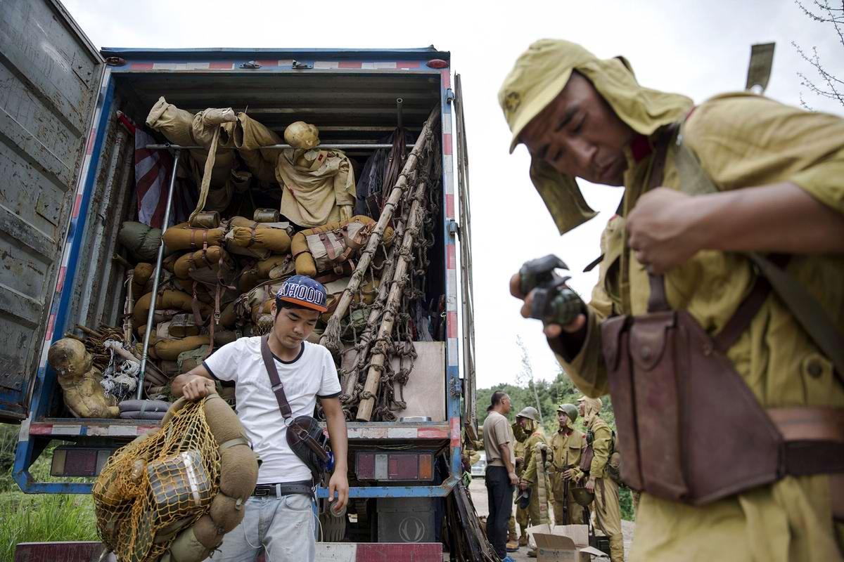 Война и немцы: На съемках китайского телесериала о 2-й мировой войне (14)
