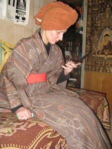 уют домашних шерстяных кимоно