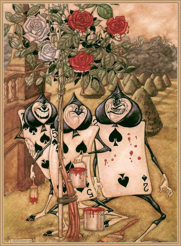 Алиса в стране чудес иллюстратор angel