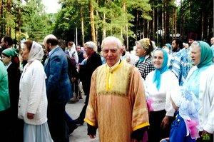 Петр Егорович Парамонов, Тамара Федоровна Гущина и Александра Федоровна Сахарова 21.07.2008.