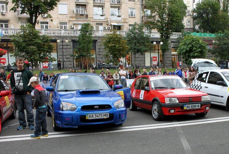 Выставка спортивных автомобилей на Крещатике
