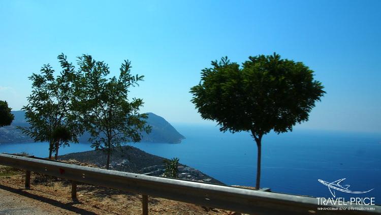 дорога вдоль моря Турция
