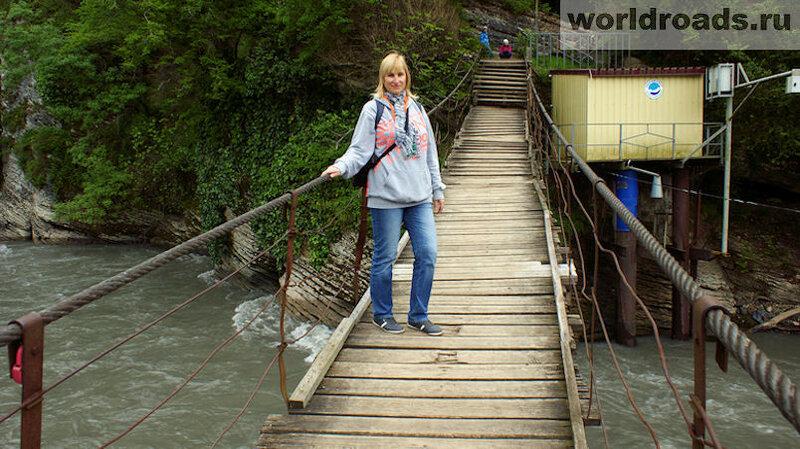 Мост через реку Мзымта