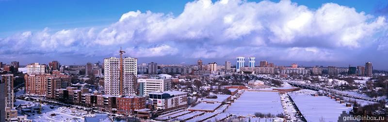Панорамы Новосибирска. Ул. Семьи Шамшиных, 16 16 эт (2009) / Россия / Туристическая социальная сеть