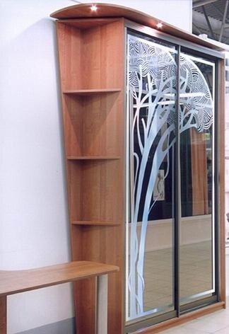 Пескоструйная обработка зеркала