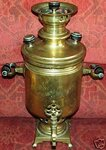 Russian genuine brass samovar Nicholas II 1903