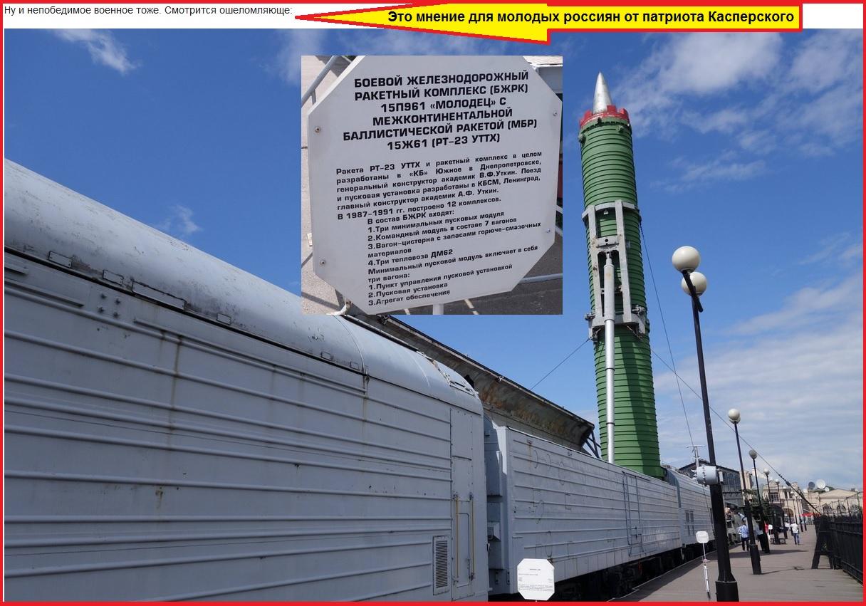 Касперский, Музей железнодорожной техники Петербурга, Баллистическая ракета