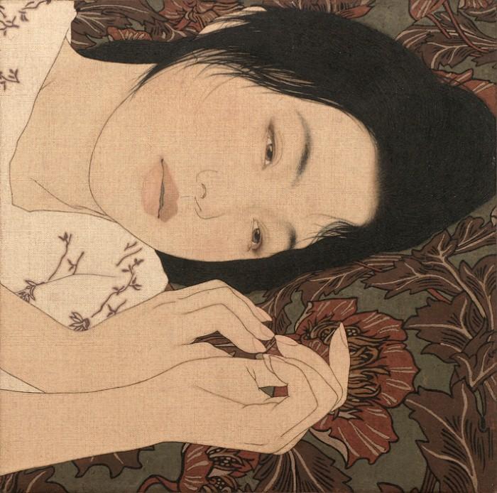 Красивые японские женщины / художник Ikenaga Yasunari