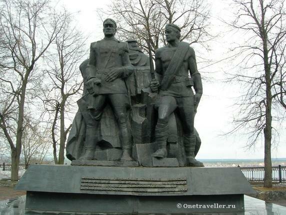 Пермь. Памятник «Героям гражданской войны» в сквере имени Ф.М. Решетникова