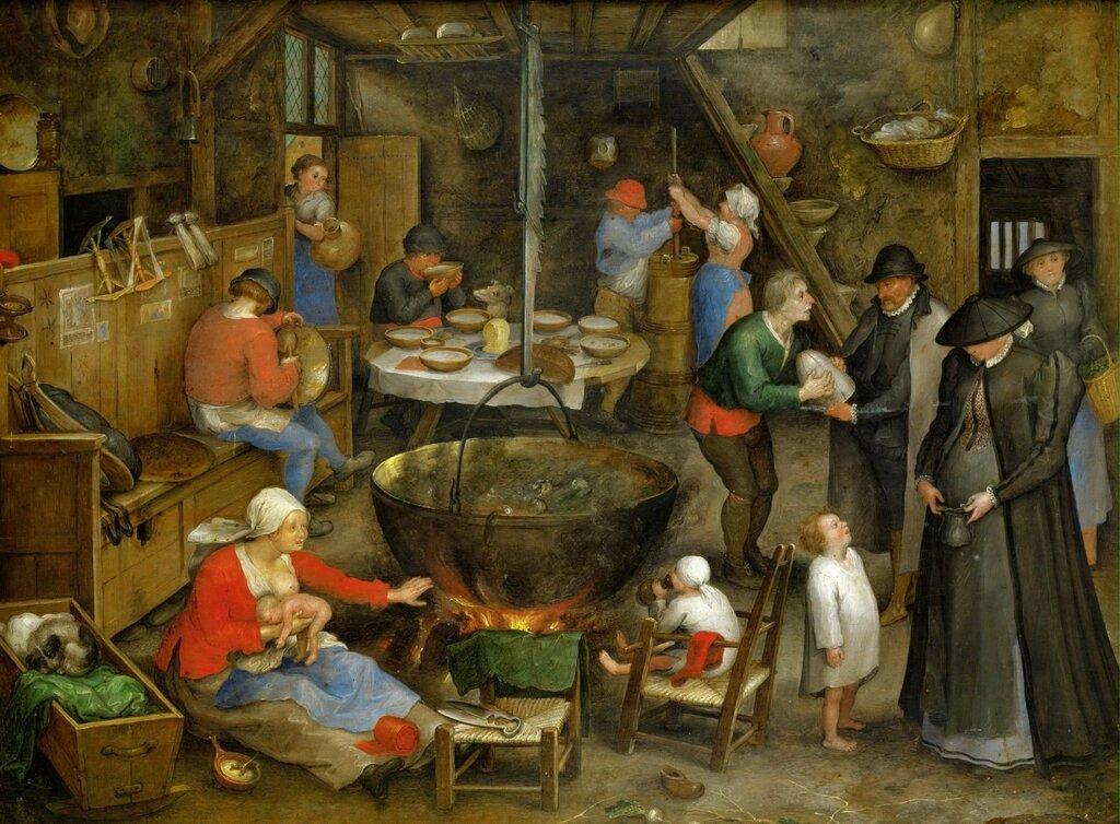Визит в крестьянский дом (ок.1597) (Вена, Музей истории искусств) (4,10 МБ).jpg