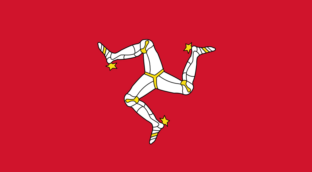 4. Остров Мэн Еще один трискелион на карте мира, один из старейших флагов мира, последнее изменение