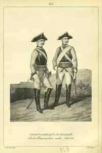 463. УНТЕР-ОФИЦЕР и РЯДОВОЙ Лейб-Кирасирского полка, 1756-1761.