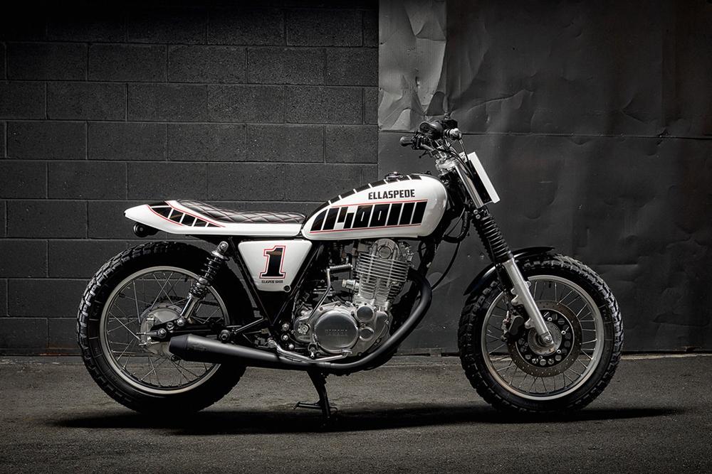 Мотоцикл Yamaha SR400 с трекерским комплектом Ellaspede