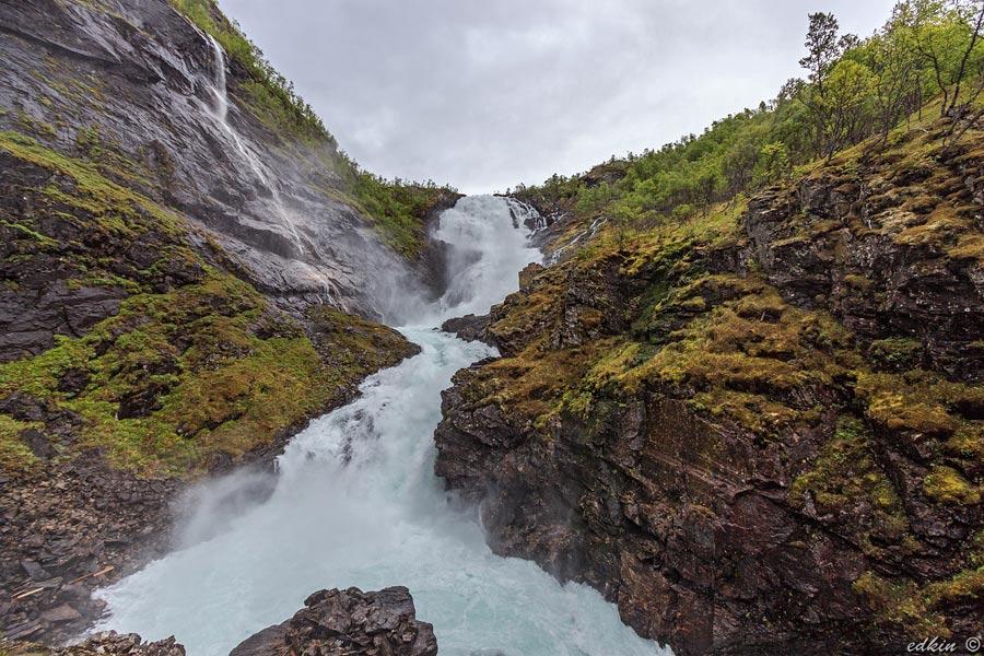Норвегия, Флом, водопад Кьосфоссен (Kjosfossen)