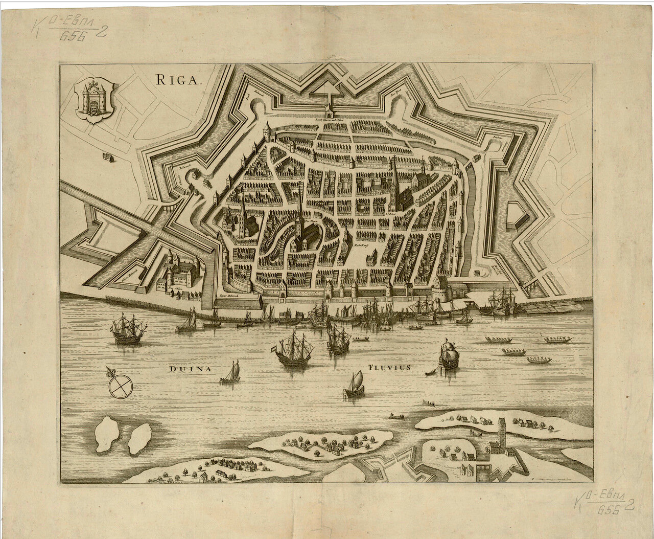 План Риги конца XVII века