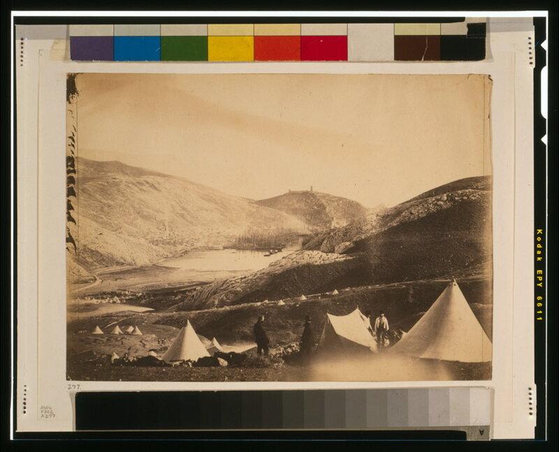 Вид Балаклавы с вершины горы Хилл