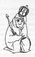 Иллюстрация Туве Янссон к Хоббиту Толкиена (Бильбо с сокровищами)