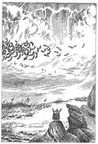 Иллюстрация Туве Янссон к Хоббиту Толкиена