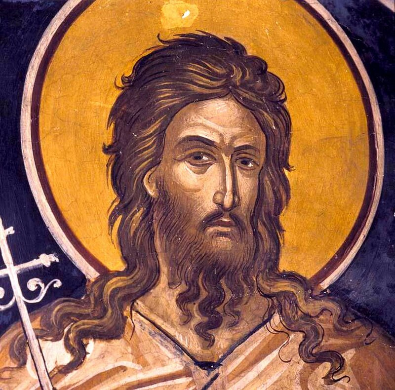 Святой Преподобный Алексий, человек Божий. Фреска XVI века. Иконописец Феофан Критский.