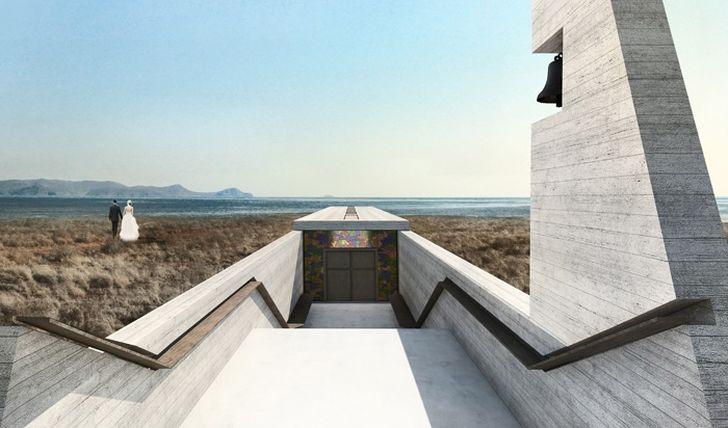 2. Греческая фирма OPA (Open Platform for Architecture) представила концепт часовни Святого Креста (