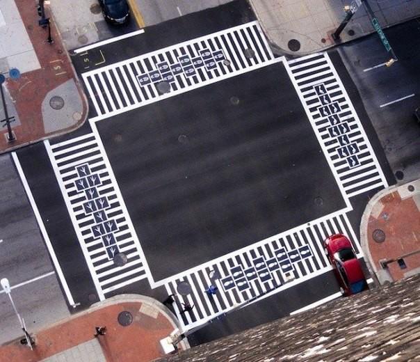 Прикольные пешеходные переходы