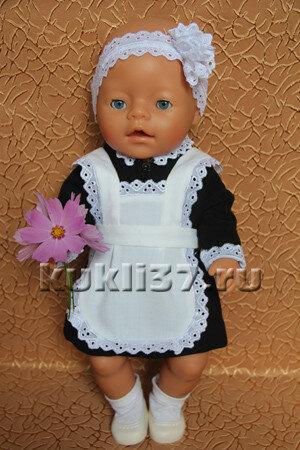 школьный фартук для куклы
