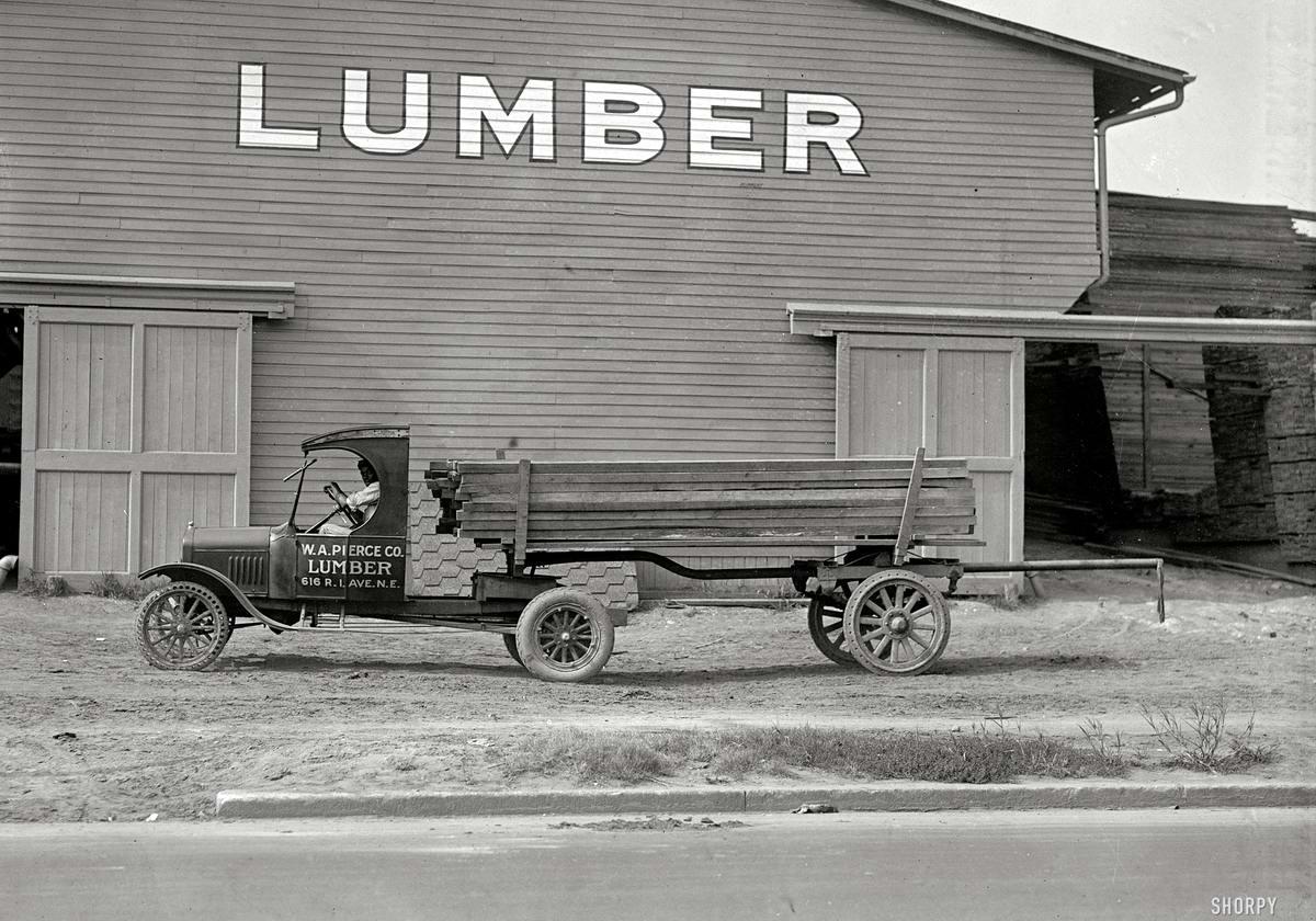 Грузовые автомобили начала 20-го века на снимках американских фотографов (20)