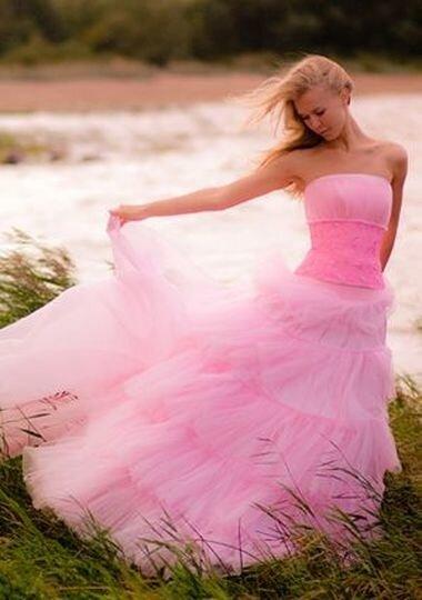 Вечерние платья платья для коктйлей, мода.  Фото розовых свадебных платьев.