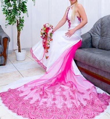 Свадебные платья необычного цвета.