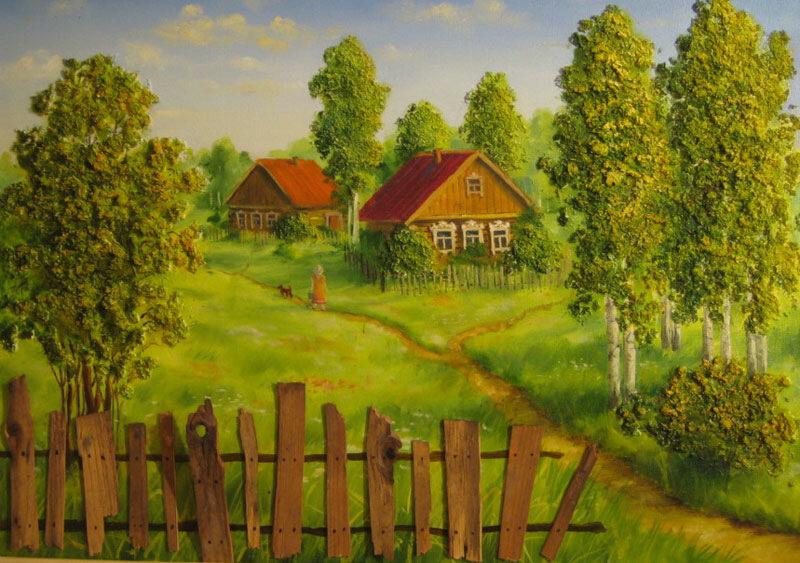 Картинки улицы деревни для детей