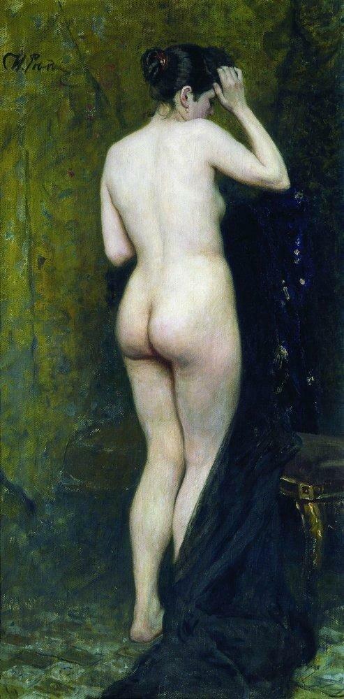 Обнаженная натурщица (со спины). 1895–1896.jpg