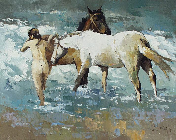 Алексей Зайцев. Полдень (Купание коней)