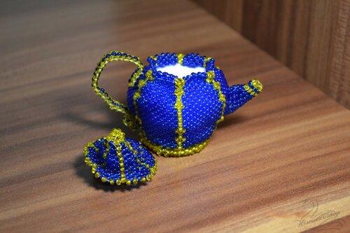 Альбом пользователя Юленька_Лебедь: Чайник из бисера8.JPG