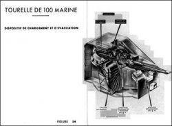 Книга Чертежи кораблей французского флота - Tourelle De 100 marine