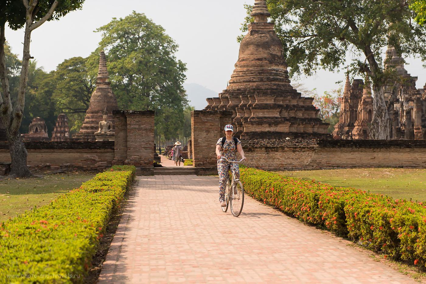 Фото 8. По историческому парку Сукхотай (The Sukhothai Historical Park ) мы катались на велосипедах. Отзыв о поездке в Таиланд самостоятельно.