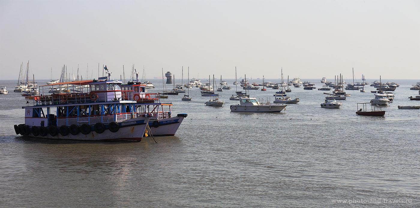 """Фото 14. Отзывы об экскурсиях в Индии. Едем по следам """"Шантарам"""" в Мумбаи. Корабли в Аравийском море (1/250, f/6.3, ИСО 100, ФР=70мм)"""