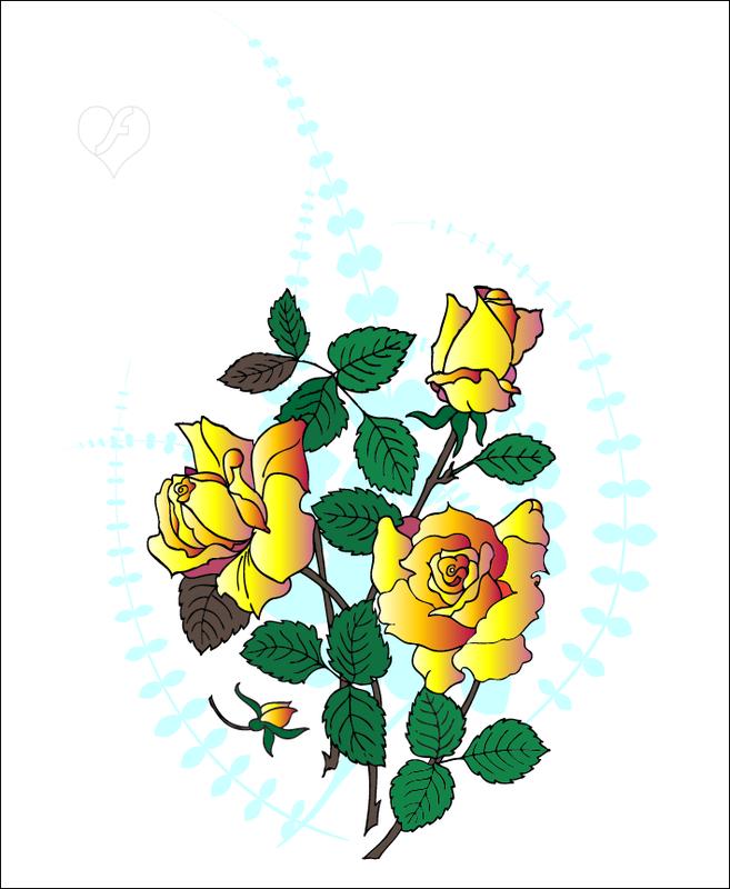 векторный клипарт 'Розы', flashtuchka