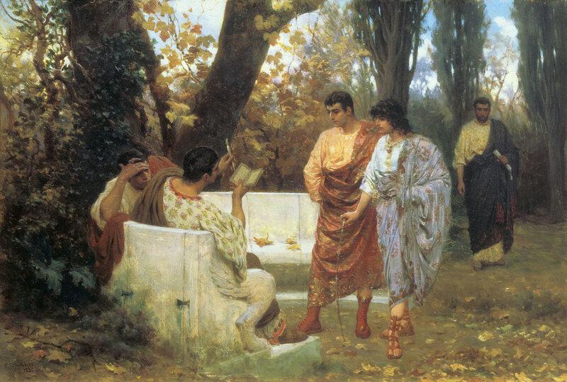 СТЕПАН БАКАЛОВИЧ. Римский поэт Катулл, читающий друзьям свои произведения. 1885