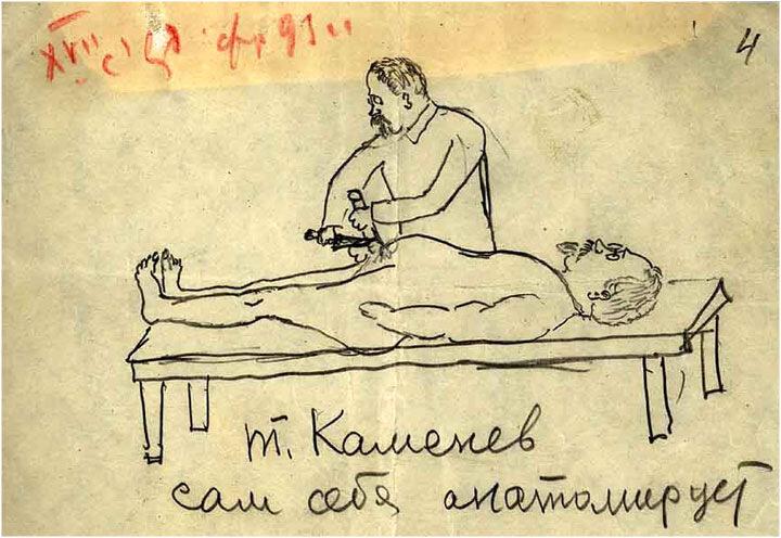 Выступление Л.Б.Каменева на XVII съезде ВКП(б). Шарж В.И.Межлаука