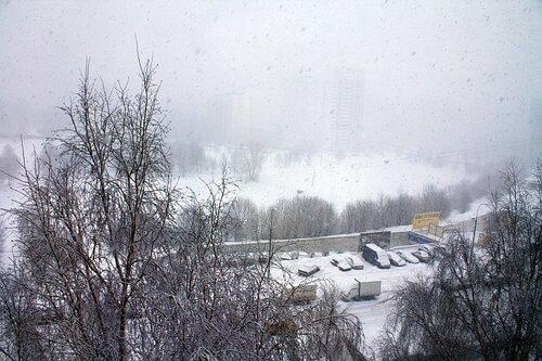 февраль. снегопад