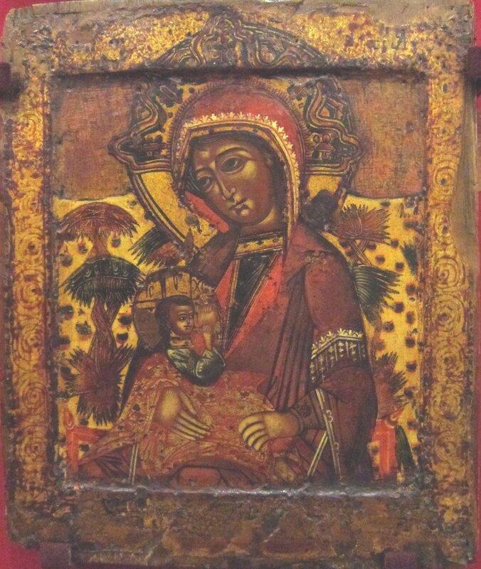 """Икона Божией Матери """"Млекопитательница"""". Начало XVIII века."""