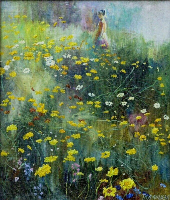 Ольга Таланцева. Где буйствуют травы, пропахшие мёдом, И тропки, как строчки – уходят в луга,