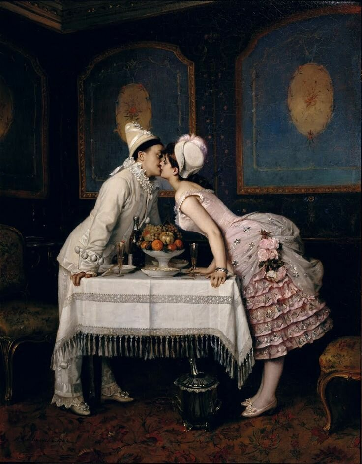 Auguste Toulmouche Поцелуй