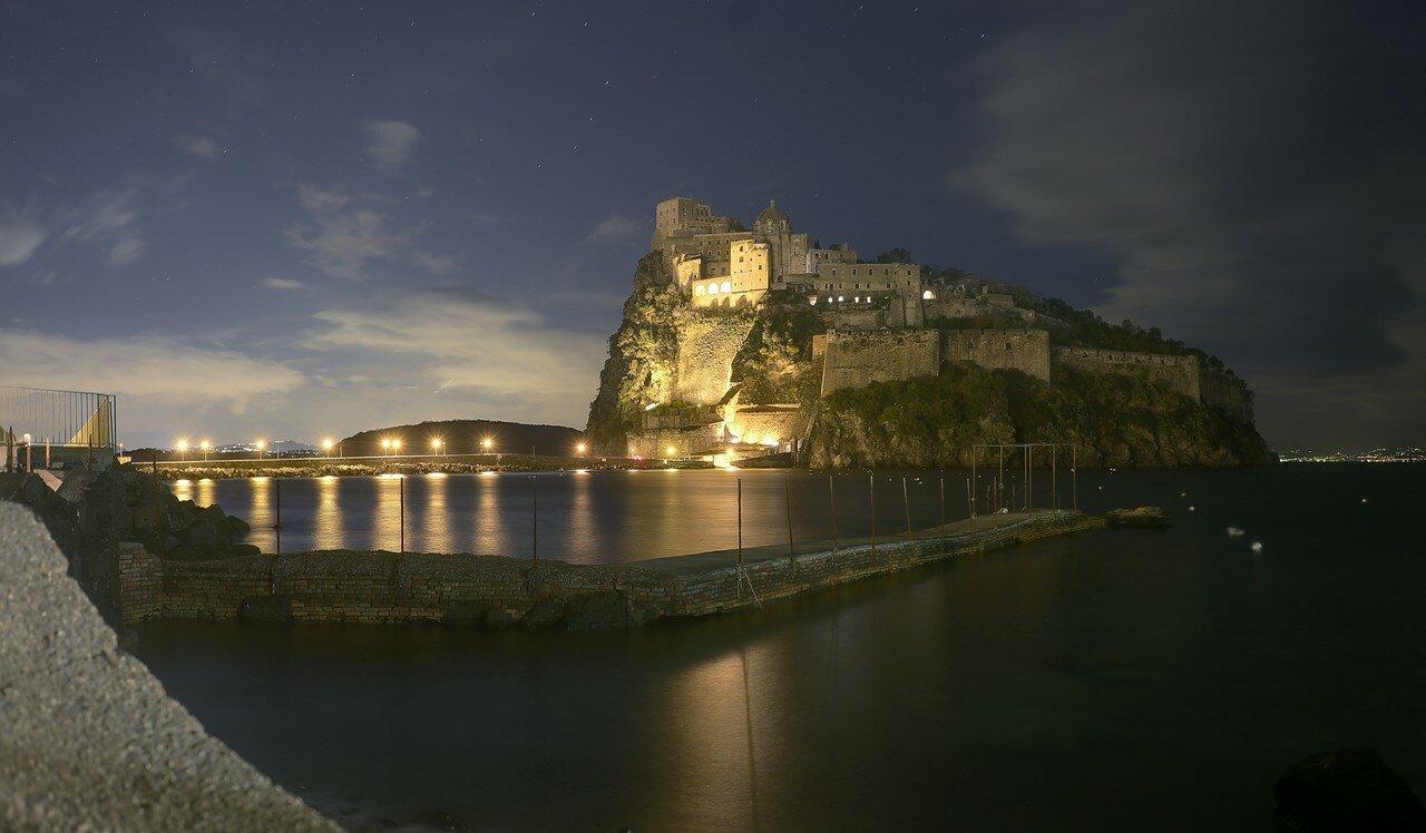 Ischia Ponte at night