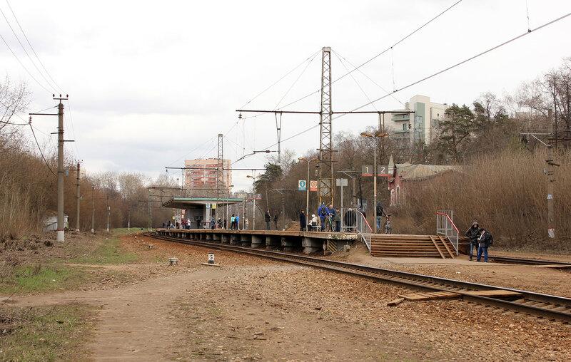 Платформа Покровское-Стрешнево, вид на Рижский вокзал