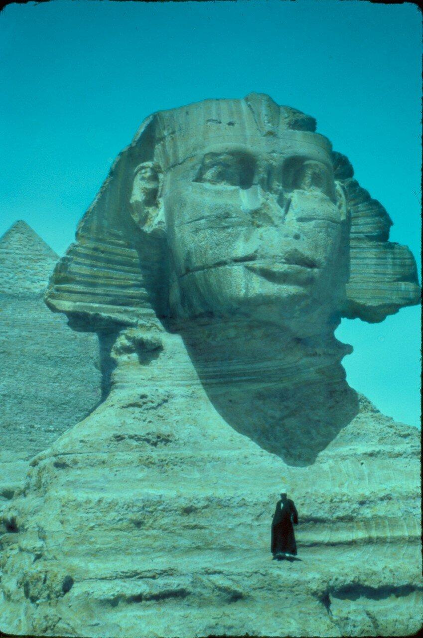 Гиза. Сфинкс и пирамиды. 1937
