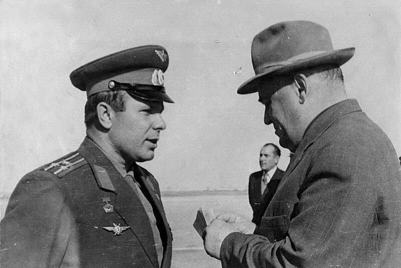 Ю.А.Гагарин и С.П.Королев
