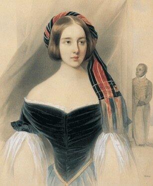 В.Гау Портрет Натальи Николаевны Пушкиной 1841 г.